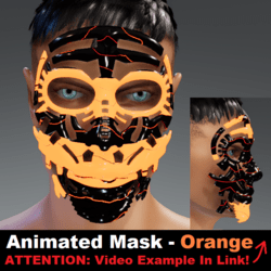 Animated Mask: Orange - Male Avatars