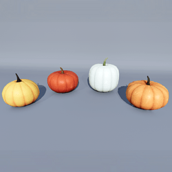 16 Pumpkins for Halloween - 4 Shapes and 4 Colors