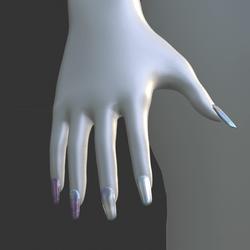 Iridescent Metal [Style 02] False Fake Nails Long