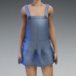AV 2.0  Jumpsuit skirt - Blue