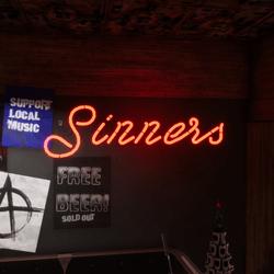 sinner neon sign