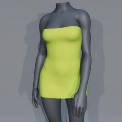 Very Short Sexy Mini Dress - Lime