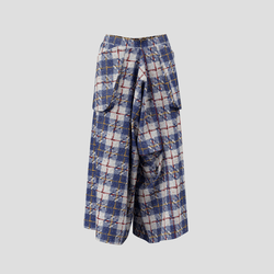 Trailblazing Pants blue and red checked