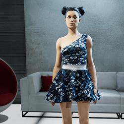 CASSOU mini dress blue