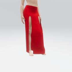 Simple Split Skirt Red (TM)