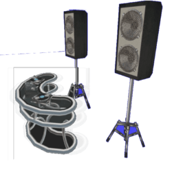 DJ Table Set with speakers