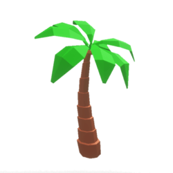 Polygonal Palm Tree