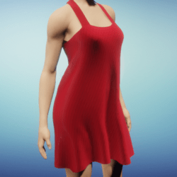 Short Silk Summer Dress