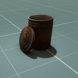 Rustic Garbage Can
