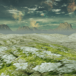 Rocky Mountains sculpted terrain blended realistic