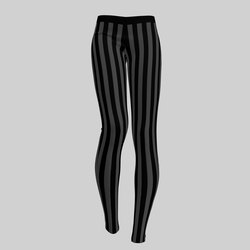 Leggings Maddy Stripes Black & Gray 2.0