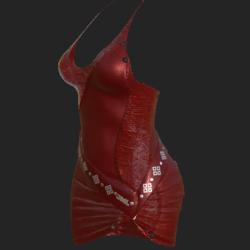 DIYA DRESS W TRANSP  RED