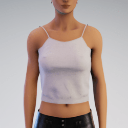 Spaghetti Tank Top - Cream Linen