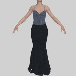Evening Gown Grey Sequin