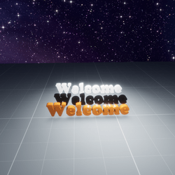 Welcome letters signs (3 pack)- Black/White/Orange