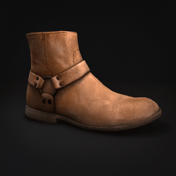Boots - Men's - Ankle Length - Leather - Tan