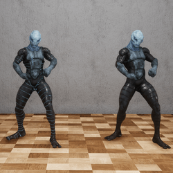 Blue Alien NPC Set