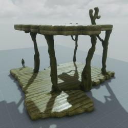 Platforms wood mossy