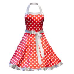 Fifties Rockabilly Polka Dot Dress red