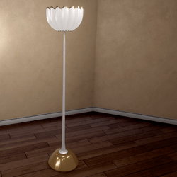 Shell Floor Lamp - Gold - Scripted On / Off