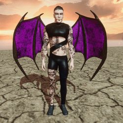 Demon Wings (Male and Female) Succubs and Incubus (Pink)