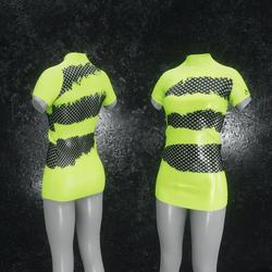 Dress Mila Latex Holes green