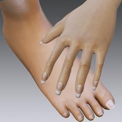 Finger nails and toe nails for Alina-Daisy Flat Feet
