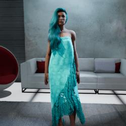 Wrap Polynesian Dress #1