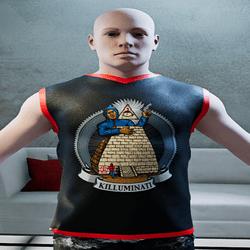 Male Killuminati Jersey  Black