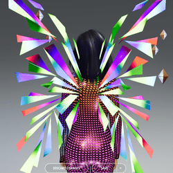 Female - Glow-Animated All Colors Techno Wings