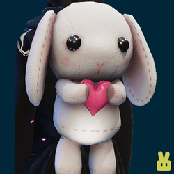 Plush bunny - hand