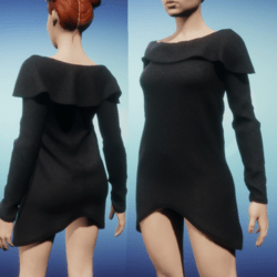 Snoodie Dress or Top -Black