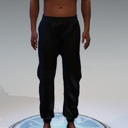 Basic Black Sweatpants for Men