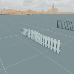 Low Poly Fence 2 (TM)