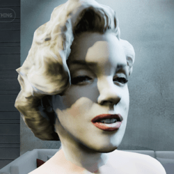 Marilyn Monroe rigged head Overlay (Female)