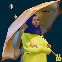 umbrella - lemon