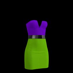 80's Day-Glow Club Dress