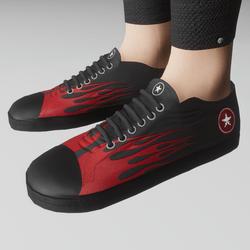 Womens retro low shoe (flames)