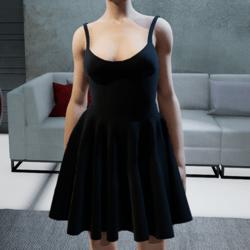 Suit. Body skirt black