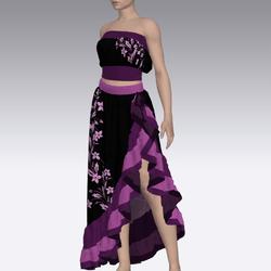 Purple Flower Gown