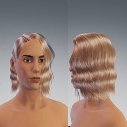 side wavy short hair blond