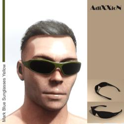 Mark Blue Sunglasses Yellow