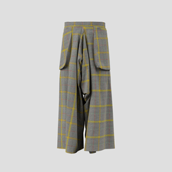 Trailblazing Pants yellow and gray checked