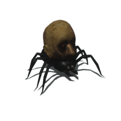 Spider with zombie head [Animated]