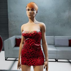 Red animal prit mini dress
