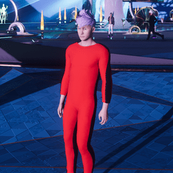 BL jumpsuit red blck