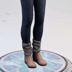 Denim Leggings with Legwarmers Gray - Avatar 2.0