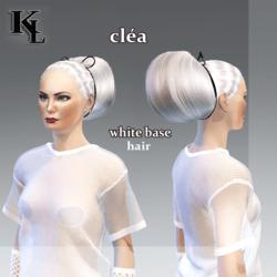 cléa -white base hair