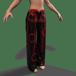 Raver Pants Female - Red