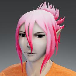 Mukuro hair pastel pink